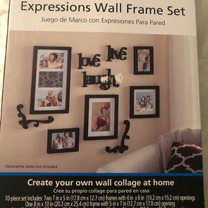 Wall frame set